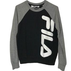 Fila Sweatshirt Crew Neck Logo Black Grey XS